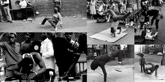 A collage of old B-Boying pictures