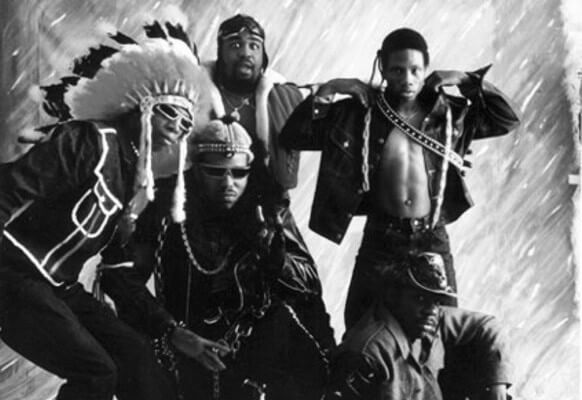A team picture of Afrika Bambaataa & The Soul Sonic Force